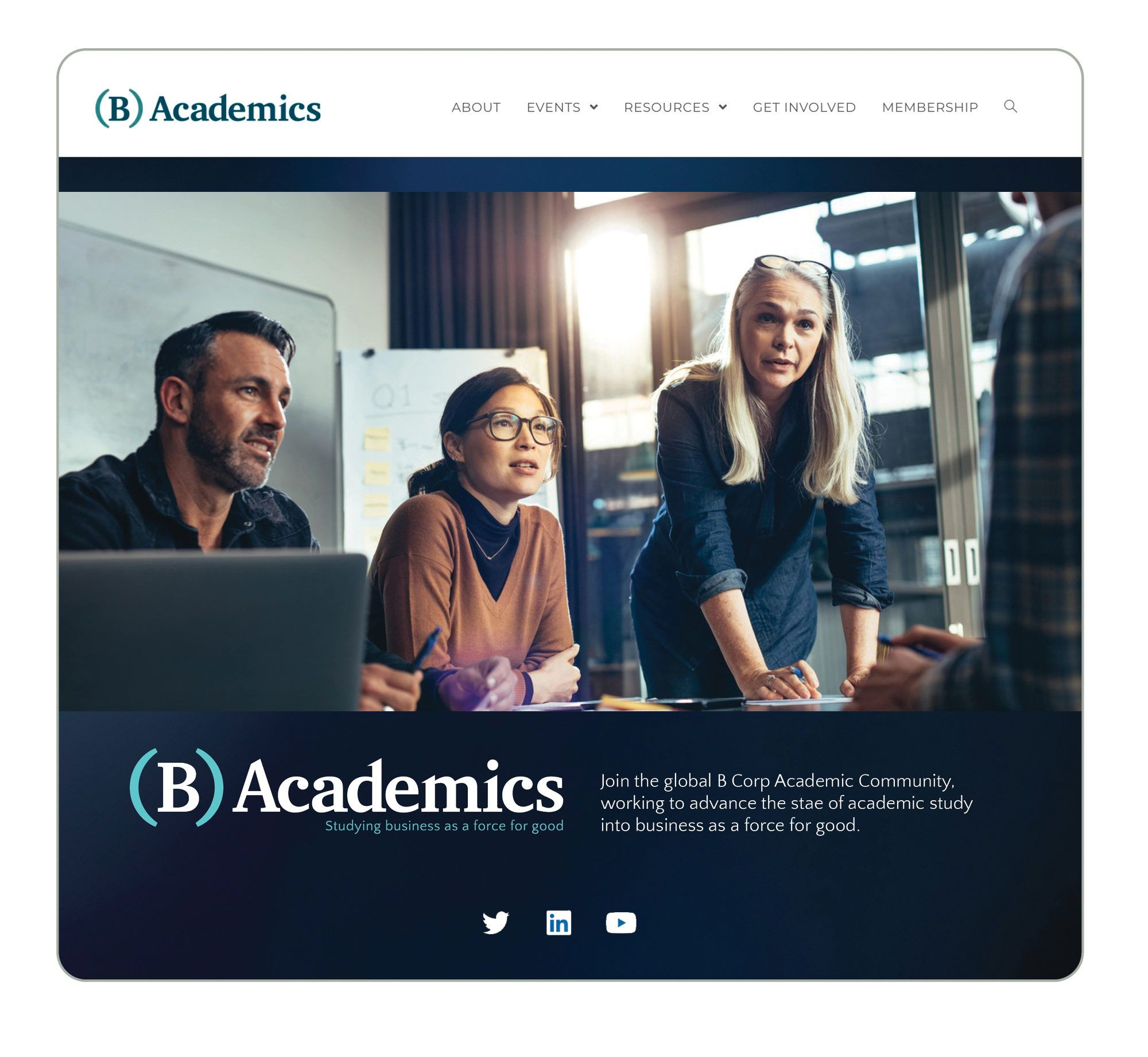 Website Design for B Acadmeics