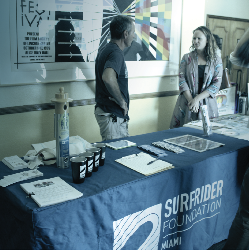 Artifishal Patagonia Film Event - Surfrider table